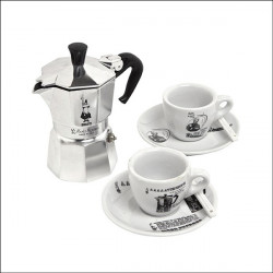 Bialetti dárková sada: Moka Express + 2 šálky na kávu