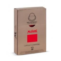 Musetti Mio Espresso kapsle pro Nespresso kávovary, balení 10ks