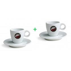 Vergnano pocelánové šálky na espresso 1+1