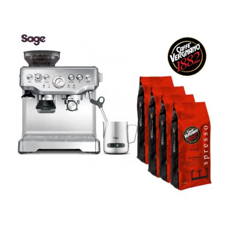 Sage AKCE - kávovar SAGE BES875BSS + 4 kg Vergnano kávy
