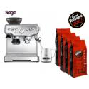 Sage AKCE - kávovar BES875BSS + 4 kg Vergnano kávy