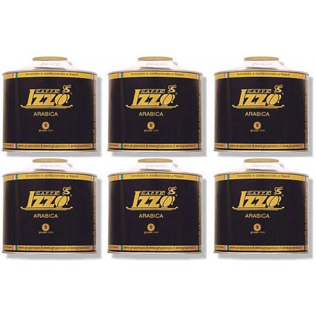 Izzo Caffé Gold zrnková káva 6 x 1 kg